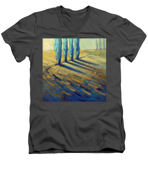 Teal Men's V-Neck T-Shirt