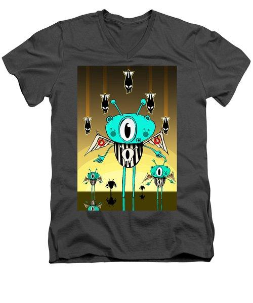 Team Alien Men's V-Neck T-Shirt by Johan Lilja