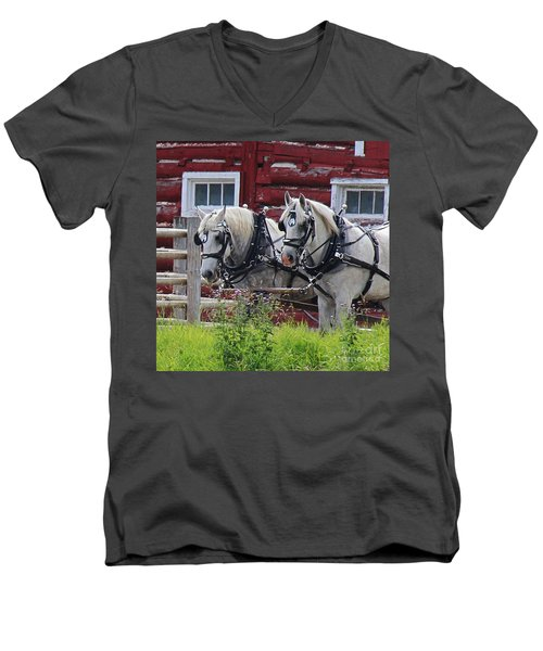 Team Of Greys Men's V-Neck T-Shirt