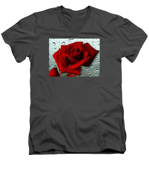 Tears From My Heart Men's V-Neck T-Shirt by Morag Bates