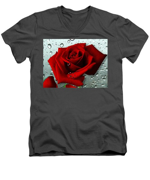 Tears From My Heart Men's V-Neck T-Shirt