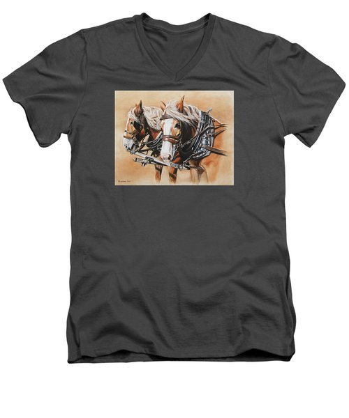 Ted And Tom Men's V-Neck T-Shirt by Kim Lockman