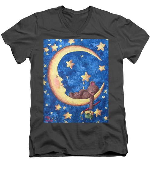 Teddy Bear Dreams Men's V-Neck T-Shirt