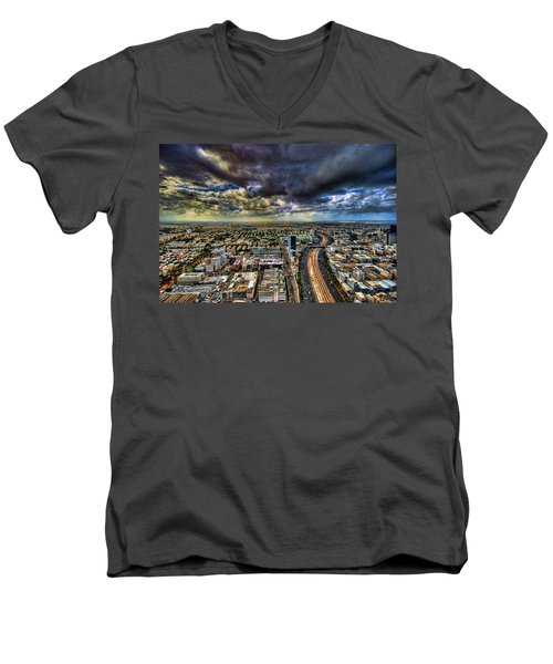 Tel Aviv Blade Runner Men's V-Neck T-Shirt