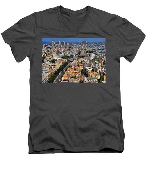 Tel Aviv Eagle Eye View Men's V-Neck T-Shirt