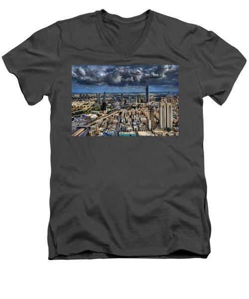 Tel Aviv Love Men's V-Neck T-Shirt