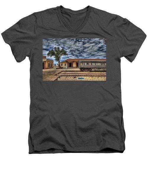 Tel Aviv Old Railway Station Men's V-Neck T-Shirt