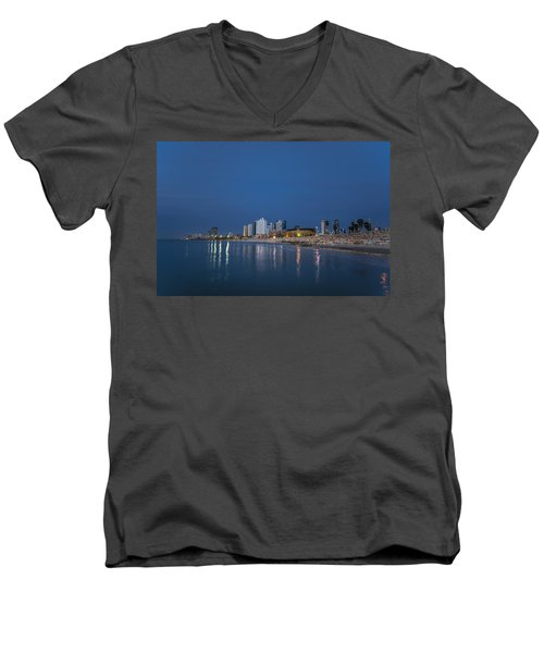Tel Aviv The Blue Hour Men's V-Neck T-Shirt