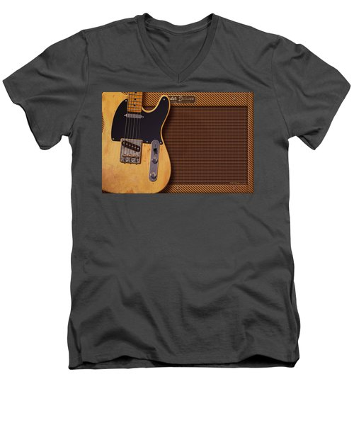 Telecaster Deluxe Men's V-Neck T-Shirt