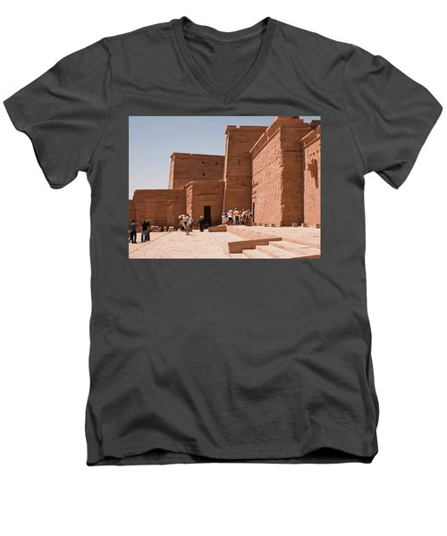 Temple Building Men's V-Neck T-Shirt