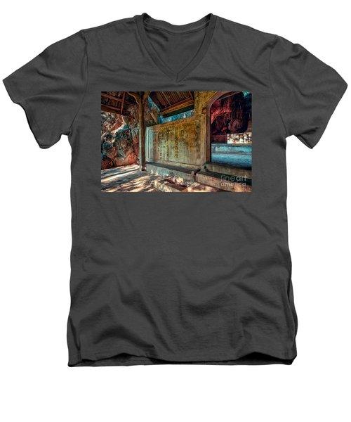 Temple Cave Men's V-Neck T-Shirt