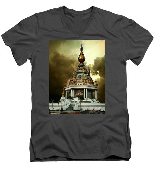 Temple Of Clouds  Men's V-Neck T-Shirt by Ian Gledhill