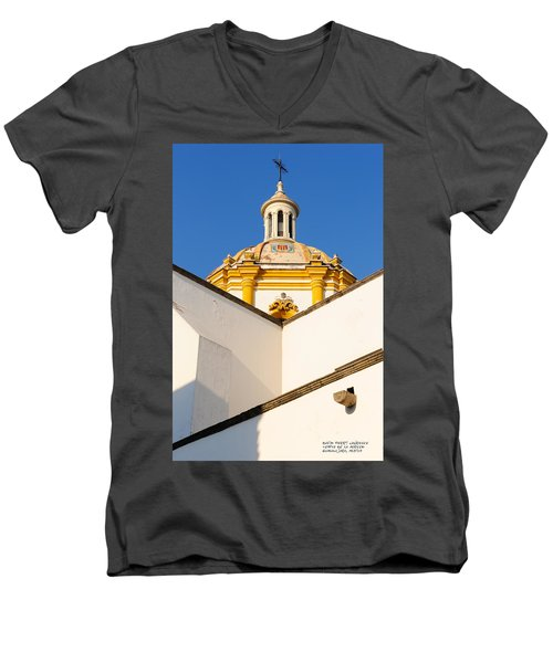 Men's V-Neck T-Shirt featuring the photograph Templo De La Merced Guadalajara Mexico by David Perry Lawrence