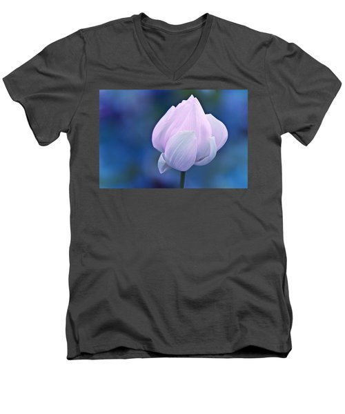Tender Morning With Lotus Men's V-Neck T-Shirt