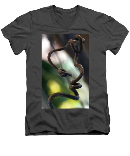 Tendrilisms Men's V-Neck T-Shirt by Joe Schofield