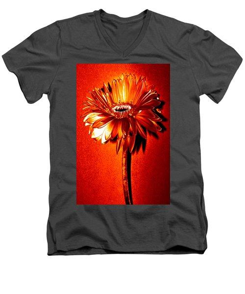 Tequila Sunrise Zinnia Men's V-Neck T-Shirt