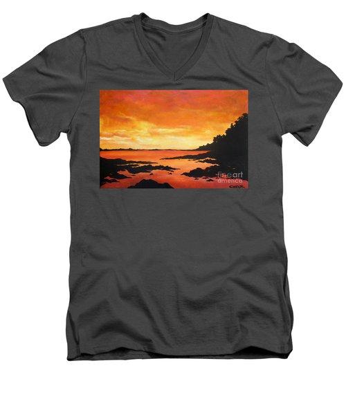 Tequila Sunset Men's V-Neck T-Shirt