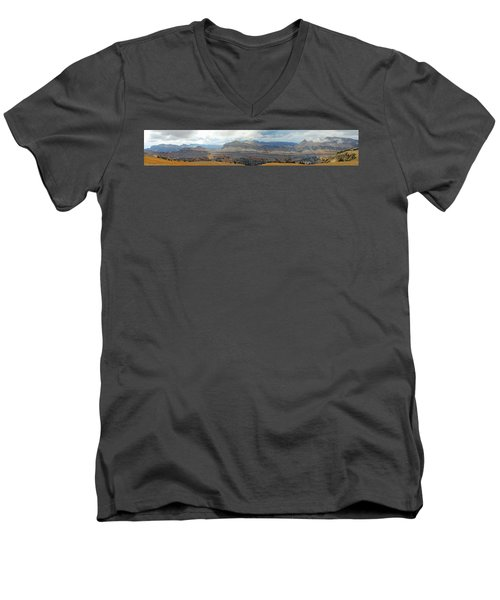 Teton Canyon Shelf Men's V-Neck T-Shirt