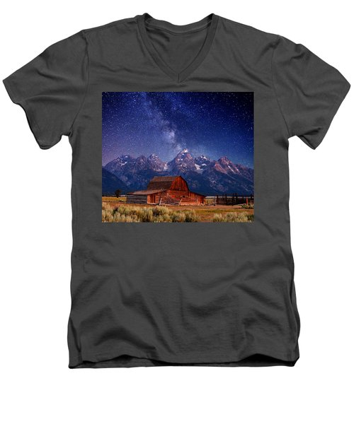 Teton Nights Men's V-Neck T-Shirt