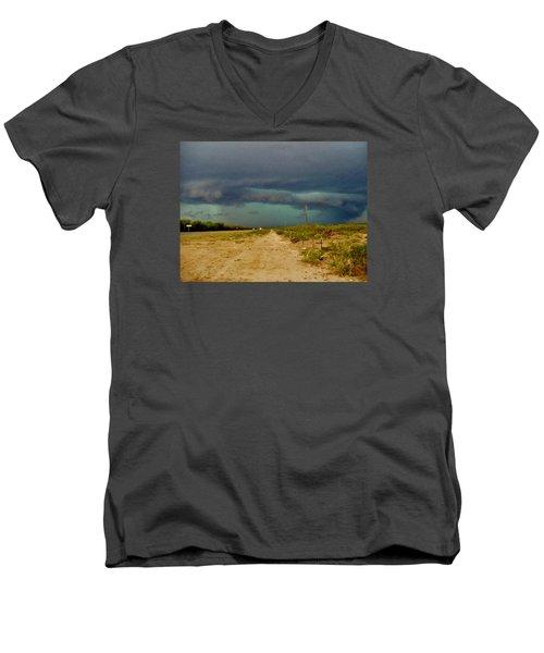 Texas Blue Thunder Men's V-Neck T-Shirt by Ed Sweeney