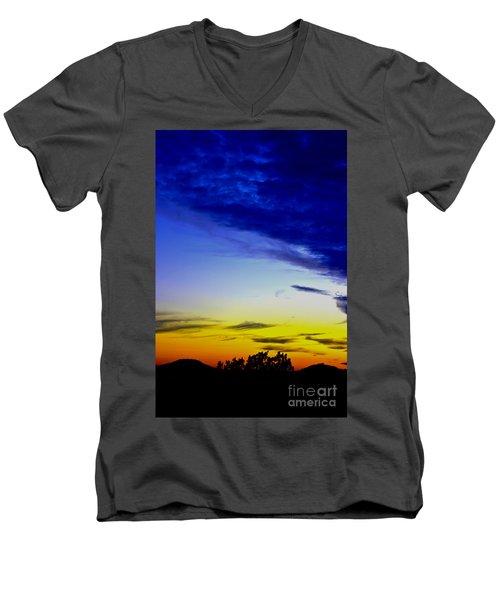Texas Hill Country Sunset Men's V-Neck T-Shirt