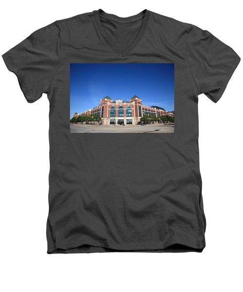 Texas Rangers Ballpark In Arlington Men's V-Neck T-Shirt
