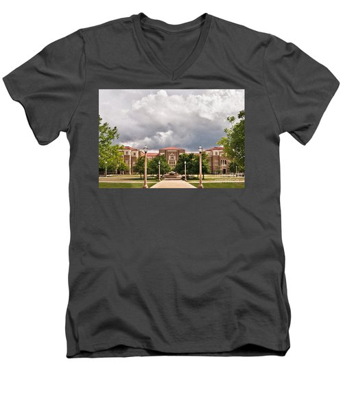 Men's V-Neck T-Shirt featuring the photograph School Of Education by Mae Wertz