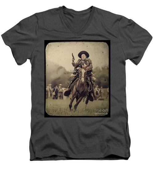 Texican Cavalry Men's V-Neck T-Shirt