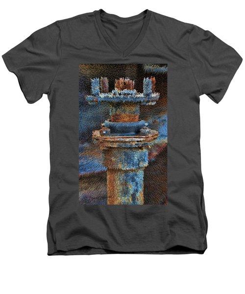 Texturized Pipe Men's V-Neck T-Shirt