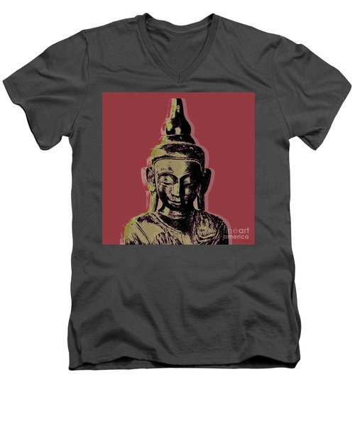 Thai Buddha #1 Men's V-Neck T-Shirt