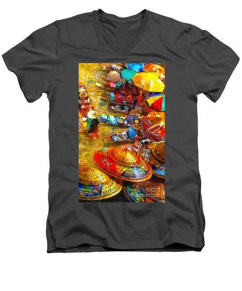 Thai Market Day Men's V-Neck T-Shirt