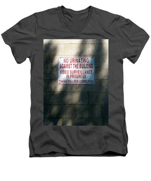 Thank You For Complying Men's V-Neck T-Shirt by Lon Casler Bixby