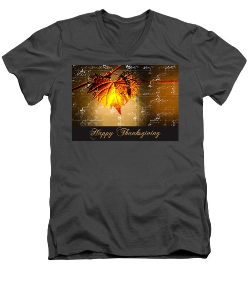 Thanksgiving Card Men's V-Neck T-Shirt