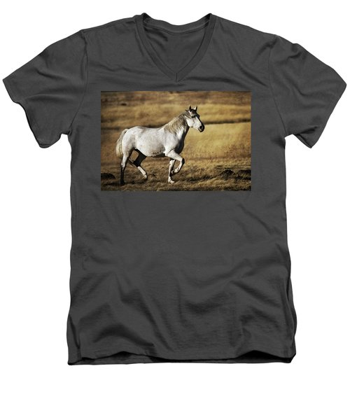That Golden Hour Men's V-Neck T-Shirt by Wes and Dotty Weber