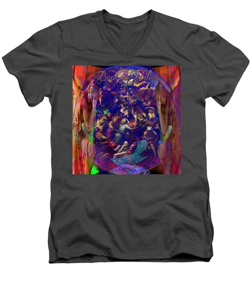 Solar Age  Men's V-Neck T-Shirt by Joseph Mosley