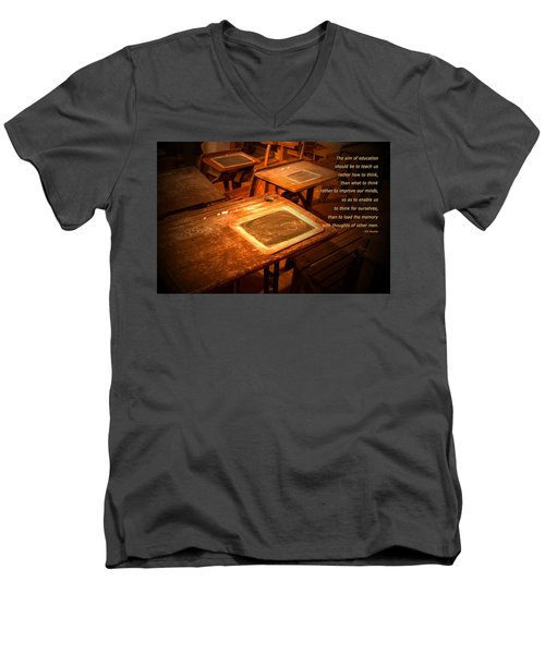 The Aim Of Education Men's V-Neck T-Shirt
