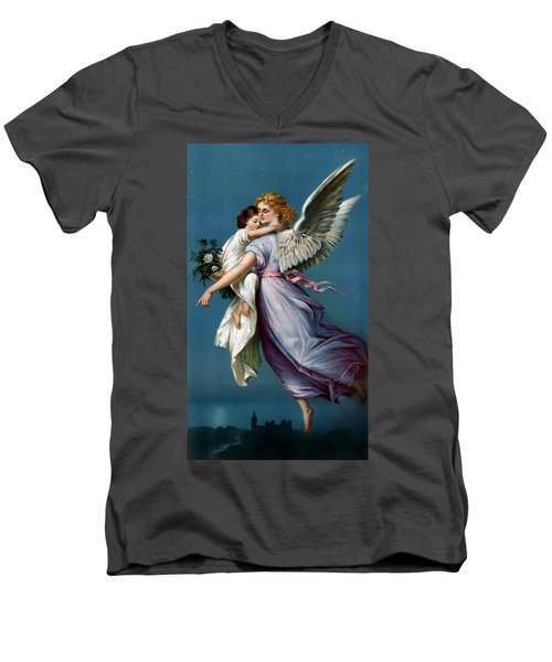 The Angel Of Peace For I Phone Men's V-Neck T-Shirt