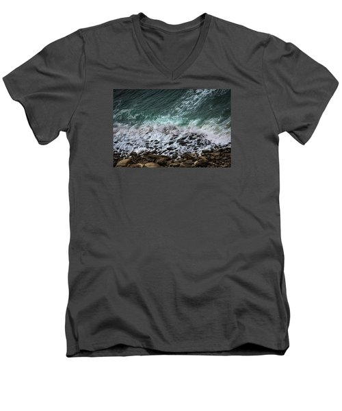 The Arm Of Sea And Land Men's V-Neck T-Shirt by Edgar Laureano