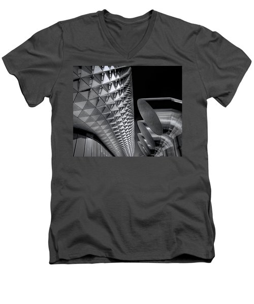 The Armadillo Awakes Men's V-Neck T-Shirt