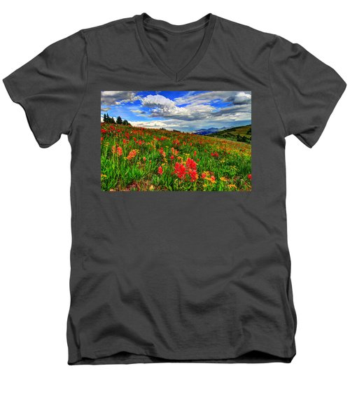 The Art Of Wildflowers Men's V-Neck T-Shirt