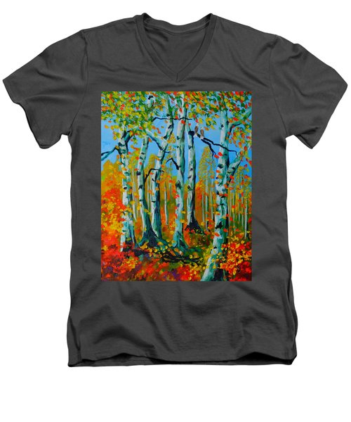 The Aspens Men's V-Neck T-Shirt