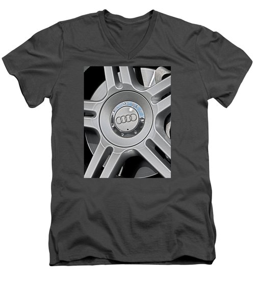 The Audi Wheel Men's V-Neck T-Shirt