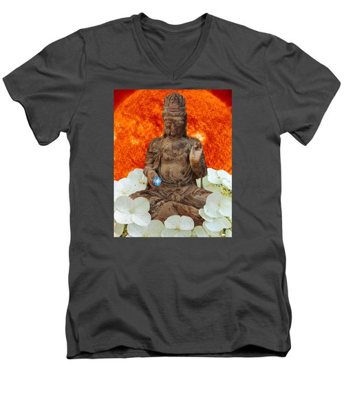 Men's V-Neck T-Shirt featuring the photograph The Awakening  C2014 by Paul Ashby