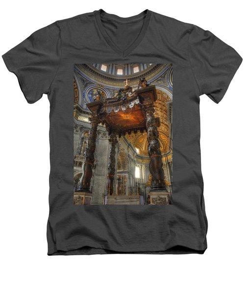 The Baldaccino Of Bernini Men's V-Neck T-Shirt