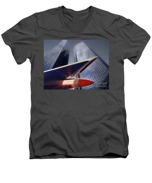 The Bank Men's V-Neck T-Shirt