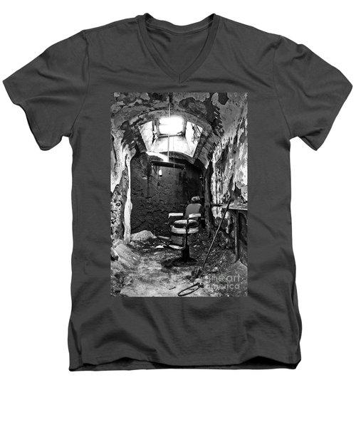 The Barber Chair - Bw Men's V-Neck T-Shirt