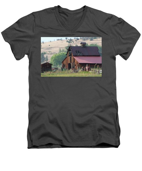 The Barn Men's V-Neck T-Shirt