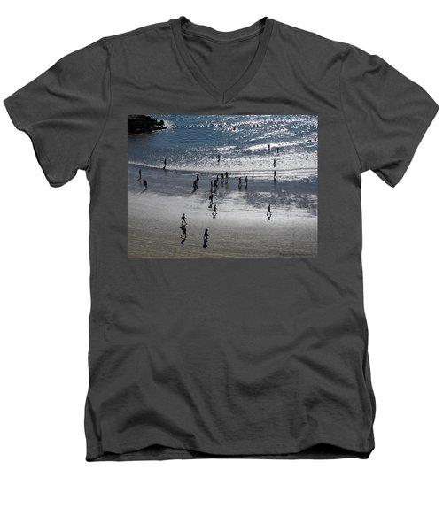 The Beach Men's V-Neck T-Shirt