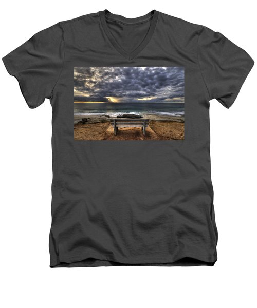 The Bench Men's V-Neck T-Shirt by Peter Tellone
