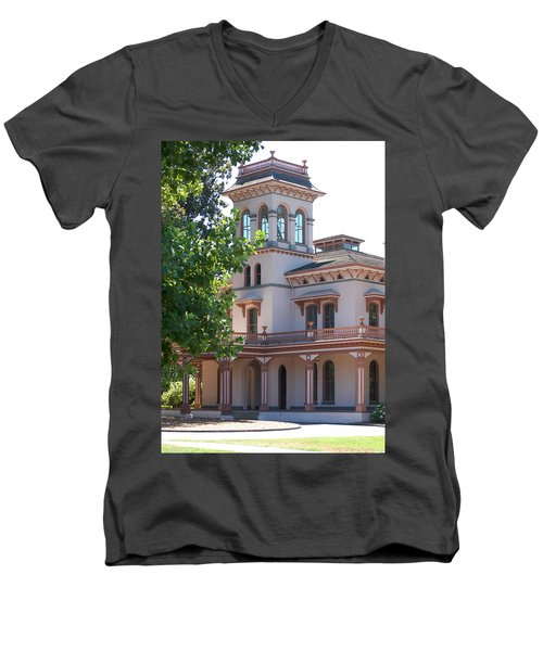 The Bidwell Mansion Men's V-Neck T-Shirt
